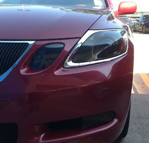 Precut Vinyl Tint Smoke Overlays For 06 11 Gs 300 350 430 450h 460 Head Light