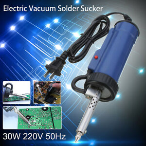 30w 220v 50hz Electric Vacuum Solder Sucker Desoldering Pump Tool Repair