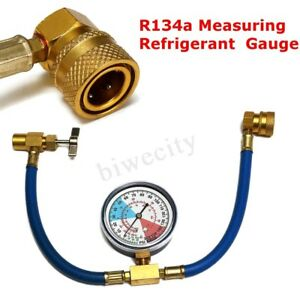 Car Auto Air Conditioning Ac R134a Refrigerant Recharge Measuring Hose Gauge Kit