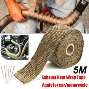 Titanium Exhaust Header 2 X16 4ft Roll Heat Wrap With Stainless Ties Kit New