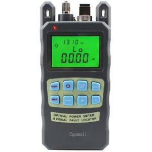 Fiber Optic Cable Tester Visual Fault Locator Portable Optical Power Met Fiber