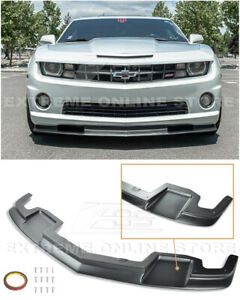 For 10 13 Camaro Ss Eos Tl1 Style Primer Black Front Bumper Lower Lip Splitter