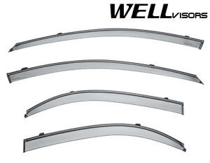 Wellvisors Side Window Visors Deflectors W Black Trim For 04 09 Kia Spectra 4dr