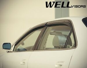 Wellvisors For 98 02 Honda Accord Sedan Clip on Side Window Visors Rain Guard