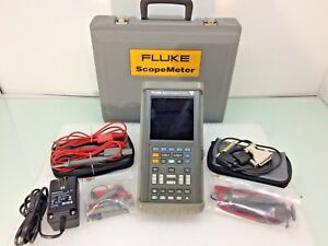 Fluke 105b Series Ii Scopemeter 100mhz W Test Leads And Probe Kit