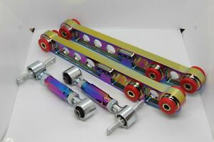 Neo Chrome Rear Lower Control Arm Camber Suspension Kit Civic crx Integra 90 01