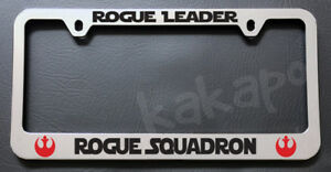 Rogue Leader Rogue Squadron Star Wars Chrome License Plate Frame