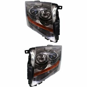 Halogen Headlight Set For 2008 2015 Cadillac Cts Left Right W Bulbs Pair