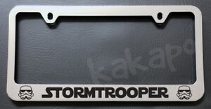 Stormtrooper Star Wars Chrome License Plate Frame