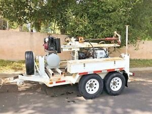 Simco 255 Ptc Asphalt Core Drill Rig Drilling Equipment Trailer
