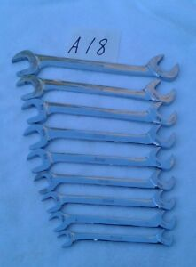 Snap On 9pc Sae Vs Series 4way Angle Head Open End Wrench Set