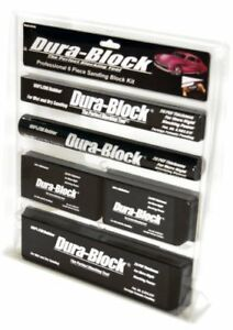 Dura Block Af44a 6 Piece Sanding Block Set Kit Car Auto Body Work Sander Black