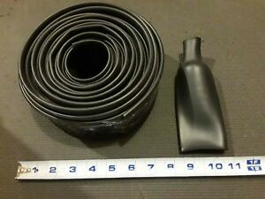 21 Foot Roll 1 5 Id Black Heat Shrink Tube 2 1 Ratio 75 Id Recovered