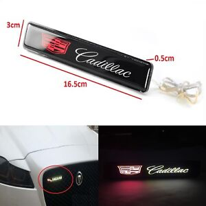 Cadillac Logo Led Light Car Front Grille Badge Illuminated Decal Sticker