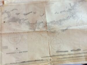 Vintage Nautical Chart Marseille To Agay Road 16 Oct 1893
