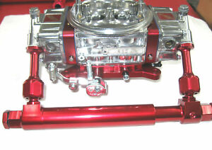 Telescopic Adjustable Billet Show Polished Red Fuel Log Holley 4150 45