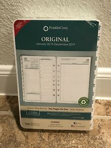 Franklin Covey 2019 Planner Refill 2 Page Per Day Daily Size 4 Original White