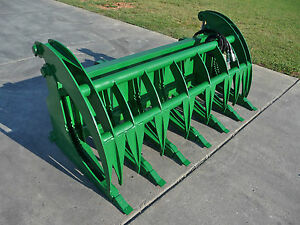 John Deere Tractor Loader Attachment 74 Root Rake Grapple Bucket Ship 199