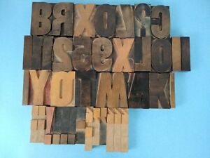 Vintage Wood Letterpress Letters Numbers Print Block 39 Print Blocks 3 Large
