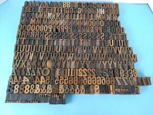 Vintage Wood Letterpress Letters Numbers Print Block 364 Print Blocks 1 Small