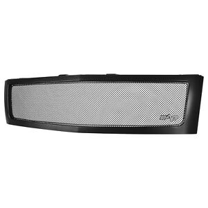 07 13 Chevy Silverado 1500 Replacement Grille Matte Black Stainless Steel Pickup