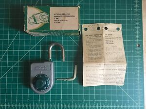 Vintage Sargent Greenleaf Inc 8088 Padlock With Key And Instructions new