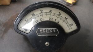 Large Antique Weston Electrical Instrument Meter