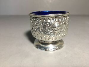 Antique Sterling Silver Open Salt By J S Beresford London 1876