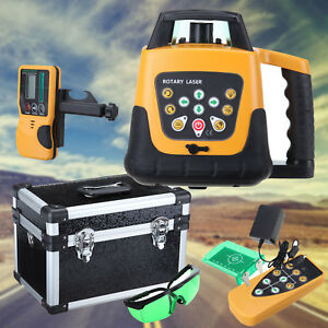 Green Beam Auto Self leveling Horizontal Cross Line Rotary Laser Level Kit 500m