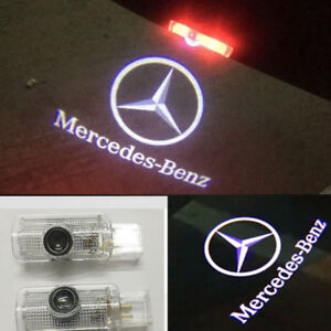 2pcs For Mercedes Benz Gl Ml R Class Door Step Courtesy Laser Projector Lights