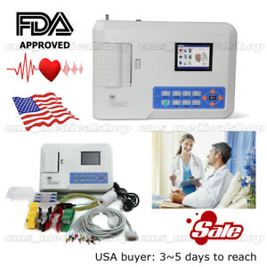 3 Channel Ecg ekg Machine electrocardiograph 12 Lead software usa Stock