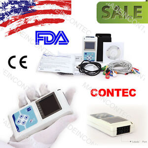 12 channel Ecg ekg Holter System recorder Monitor Tlc5000 analyse software 2017