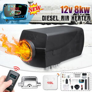5kw 12v Diesel Air Heater Low Fuel New Lcd Thermostat For Truck Boat Car Trailer