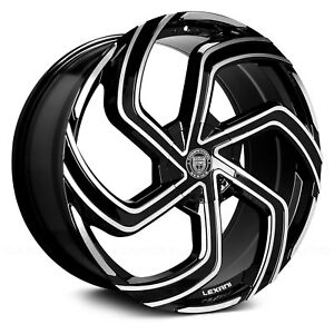 Lexani Swift 1pc Wheel 18x8 40 5x114 3 73 Black Machined Single Rim