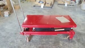 Dayton 4zd01 J Hydraulic Lift Scissor Table Cart 1500 Lb Capacity New