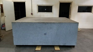Rock Of Ages Granite Surface Plate 8 Ft X 6 Ft X 3 Ft Thick Accuracy 001200