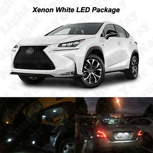 4 X White Led Cargo Visor Vanity Mirror Light Bulbs For 2015 2017 Lexus Nx200t