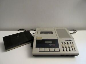 Sony Bm 75 Dictator transcriber Dictatiion Machine W Foot Pedal Clean Working