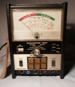 Sencore Model Tf 30 Cricket Parameter Transistor Tester Good Condition With Book