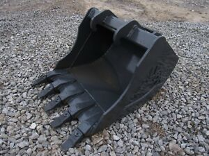 Bobcat Mini Excavator Attachment 24 Heavy Duty Tooth Bucket Ship 149
