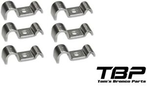 Stainless Steel Brake Fuel Line Clips 3 16 X 3 8 Stainless Steel Qty 6