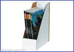50 Pack White Magazine Filing Storage Display Media Boxes 9 1 4 X 4 X 12