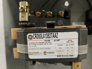 Cr360l41382taaz General Electric Magnetic 3 Pole