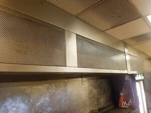Restaurant Range Hood System 21 Heated Make Up Air Exhaust Ansul Complete