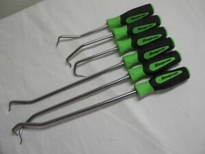 Snap on Sgrht6bg 6 Piece Green Soft Grip Radiator Hose Pick Set
