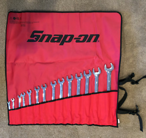 Snap on Oex714kb 14 Pc 12 Point Sae Flank Drive Combo Wrench Set 3 8 1 1 4