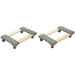 Dollies New Hardwood Carpet End Furniture Dolly mover s 3 Casters 1000 Lb 2