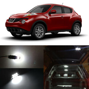 6 X White Led Interior Map Dome Trunk Bulbs License Plate Lights For Nisan Juke