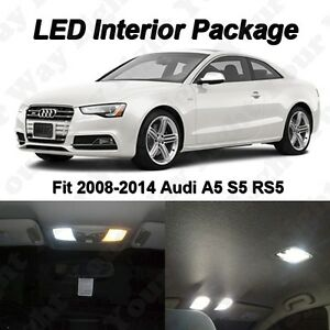 12 X White Led Interior Map Dome Lights Package Kit For 2008 2016 Audi A5 S5