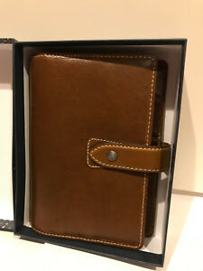 Filofax Ochre Malden Personal Size New With Extra Paper Great Condition